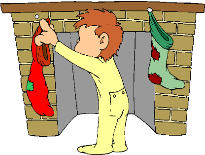 Hanging up Christmas stockings