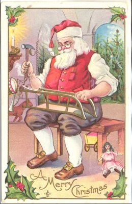 Santa Claus in his Workshop